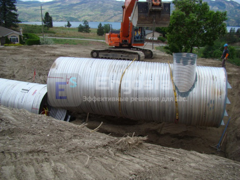 Спиральновитые оцинкованные резервуары